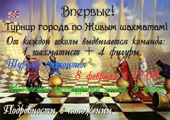 Турнир города по Живым шахматам
