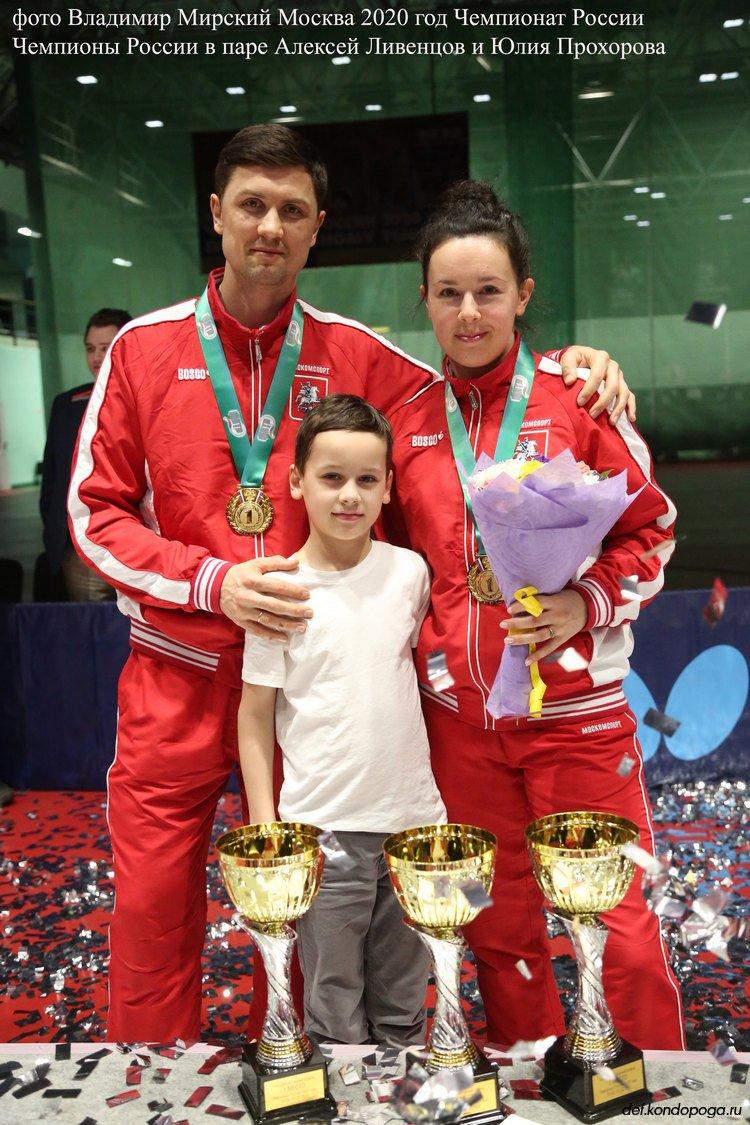 Чемпионы России 2020г. в паре Алексей Ливенцов и Прохорова Юлия.